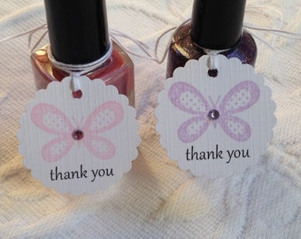 Butterfly Thank You Tags - Purple And Pink Tags - Butterfly Baby Shower - Butterfly Birthday Party - Favor Gift Tags