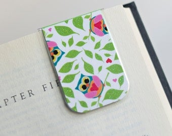 Owl Owls Magnetic Bookmark Laminated Leaf Love Valentines Teacher Gift Birthday Christmas Mother's Day College Student School Education