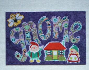 """Be """"Bee"""" Affirmations Gnomes Postcard Birthday Him Her Friend Mom Child Thank You Housewarming Frame Gift Hi Room Decor 4x6 fabric quilted"""