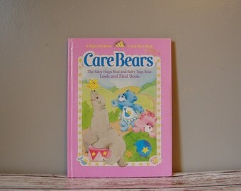Vintage Care Bears Book, Look and Find Book, Baby Hugs Bear, Baby Tugs Bear Hardcover Book, Parker Brother Good Start Book Care Bears Babies