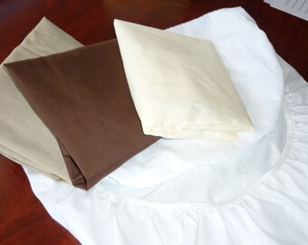 Bassinet Fitted Sheets x 3 and Protector