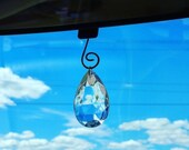 ON SALE Large Crystal SunCatcher - Antique Chandelier Crystal - Rear View Mirror Crystal - Car Accessory - Crystal for Window or Car