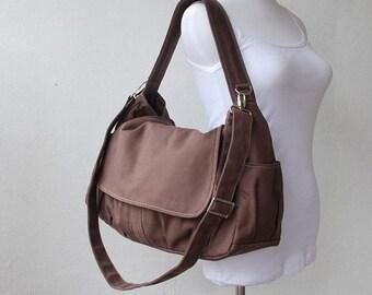 Back To School SALE - 30% Pico in Cinnamon (Water Resistant) Laptop / Shoulder bag / Messenger Bag / Handbag / Wallet /Diaper Bag/ School Ba