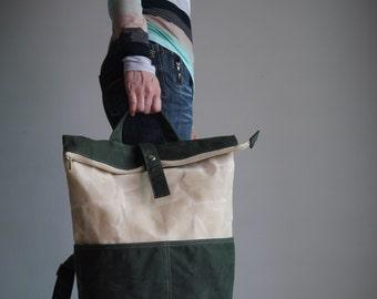 Backpack, 40% Sale SALE - ZEN, Handbag, Waxed Canvas Backpack, Rucksack, Laptop Backpack, School Backpack, Hipster Backpack