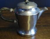 vintage chrome plate tea pot