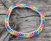 Rainbow Rubber Half Persian 4 in 1 Chainmaille Bracelet