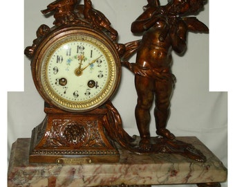 Antique Angel Moreau Clock