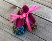 Tie dye colorful babygirl crib shoes