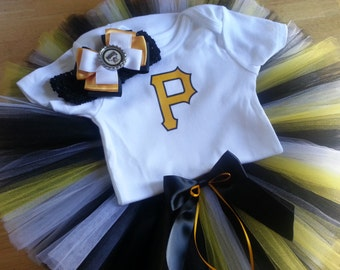 Pittsburgh Pirates inspired tutu outfit
