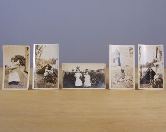 5 Antique Family Photographs