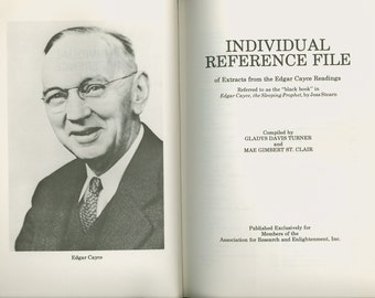 Individual Reference File of Extracts from the Edgar Cayce Readings, The Black Book, Published by A.R.E. 1976 Occult Book Psychic Medium