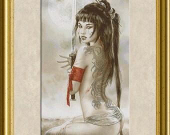 "LRcg - Luis Royo Fanxstitch Art, ""The Orient"" V-II"
