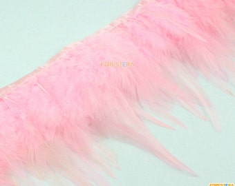 1 Yard Pink Feather Trim (YM202)