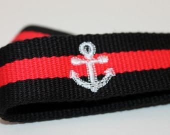 Anchor Key Fob Chain Custom Colors WIDE WIDTH