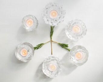 Vintage Kosta Boda Sweden Igloo Glass Candleholder // Bengt Edenfalk