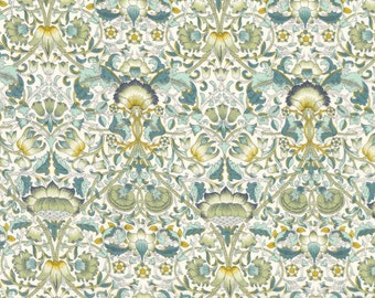 Fat quarter 'Lodden B', aqua and green Art Nouveau Liberty print