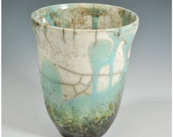 Raku Vase, Handmade Vase