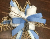Burlap And Blue