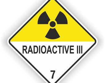 Radioactive III #3 Warning Sticker for Laptop Book Fridge Guitar Motorcycle Helmet ToolBox Door PC Boat