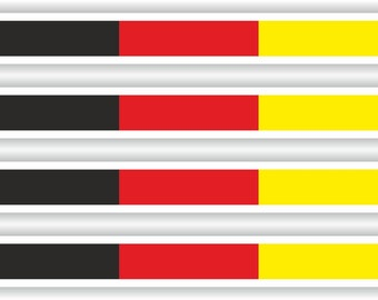 Flag Sticker Stripes Germany Deutschland Stripe for Bumper Helmet Bike Car Truck Door ToolBox Bike