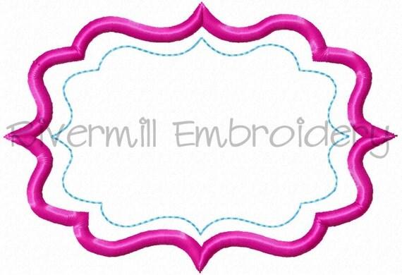 Applique Name Or Monogram Frame 9 Machine Embroidery Design