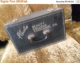 Now On Sale Vintage Beauty College Collectible Home Decor Box Luggage 1960's 1970's Retro Industrial Supply