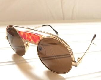 Vintage Round Sunglasses - Tortoise Shell Glasses - Round Eyeglass Frames - Retro Eyewear