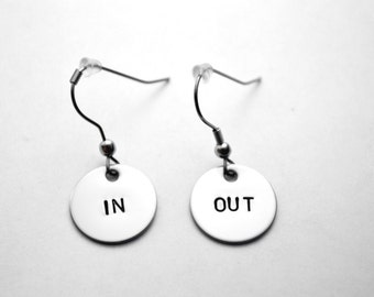 In one ear, out the other - In and out earrings - In, out earrings - In one ear out the other earrings