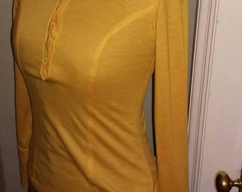 Vintage 1960's Mustard Collared Top