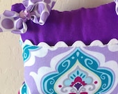 Purple and Lavender Girly Tooth Fairy Pillow with Tooth Fairy ReceiptsI