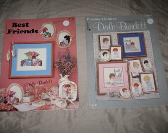 Dale Burdett Best Friends Booklet and Praying Children leaflet 1988 Cross Stitch patterns paperbacks