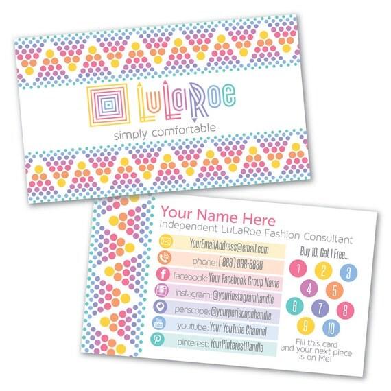 Lularoe custom business card design by lilstarletcouture for Lularoe buisness cards