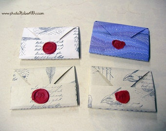 Old Letter Mini Notebook with Pockets for Booklovers