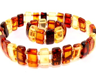 Baltic Amber Bracelet and Ring, natural amber bracelet and ring, bracelet, gift,  波羅的海琥珀手鍊, バルト琥珀ブレスレット, ambre Baltique, Bernstein Armband