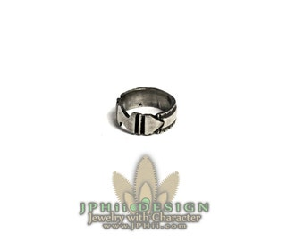 Art Deco Sterling Silver Style Ring Band