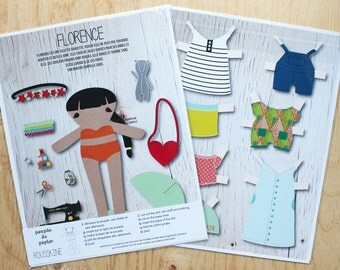 Florence printed paper doll