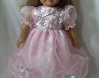 18 Inch Doll-American Girl Dress: Pretty Princess  Ready To Ship