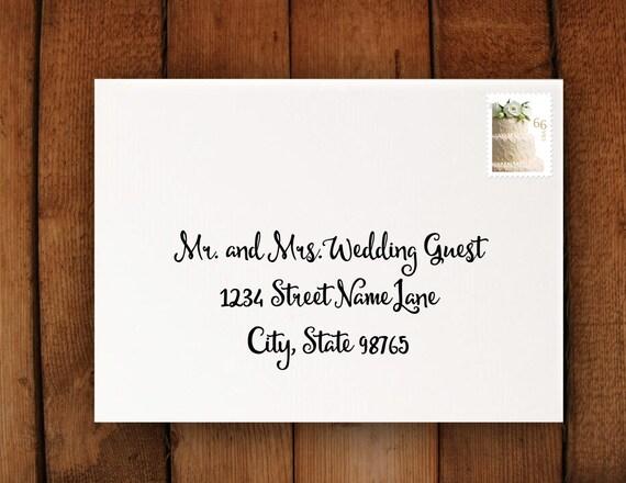 Digital Calligraphy Wedding Invitation By Laurevansdesign