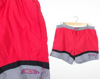 Vintage Retro Red OP Swim Trunk Shorts Large