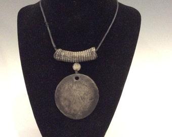 Contemporary ceramic Pendant necklace