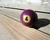 Vintage Billiard Ball - Number 4 ( four ) Pool Table Ball - Great for Birthdays and Anniversaries