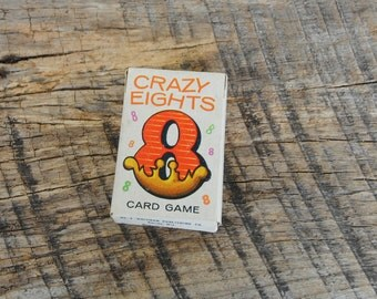Vintage Crazy Eights Childrens Card Game By Whitman Miniature Deck