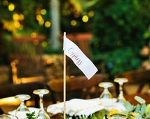 10 Place card holders  - Wood place card holders - Table numbers - Rustic Wedding Decor - Centerpiece - Table settings