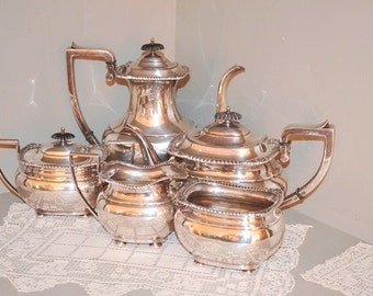 Antique EG Webster and Son Silver Coffee Tea Service