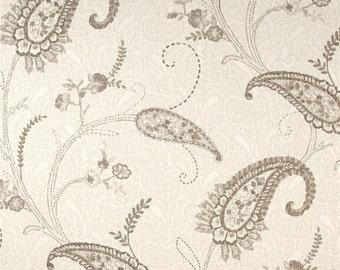 Two 26 x 26  Custom Designer Decorative Euro Pillow Covers - Large Paisley - Taupe/Cream