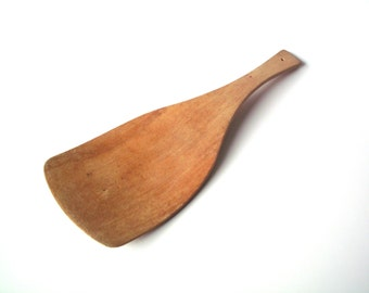 Vintage Wooden Flat Paddle or Spoon