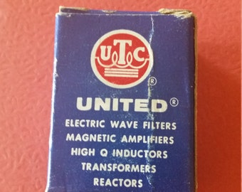 Vintage United electric wave filters magnetic amplifiers high Q inductors Transformers