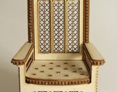 Throne 1:12 scale 'Queensize' (ready-assembled and un painted)