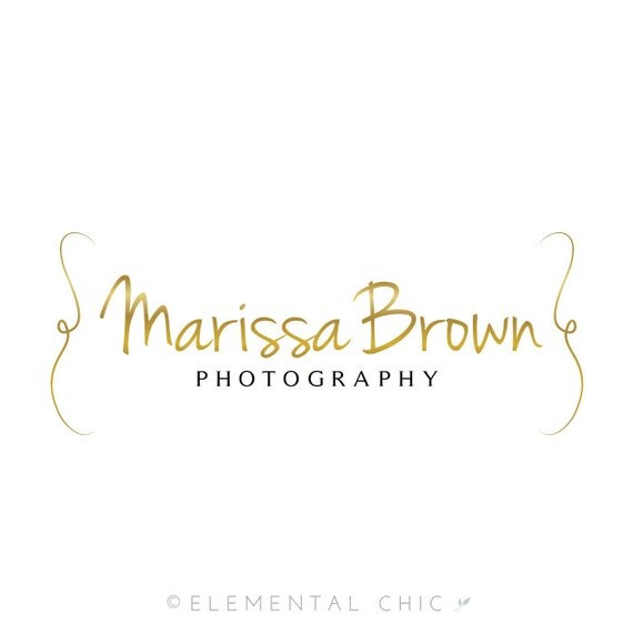 Gold Photography Logo and Watermark - Customizable Premade Logo Design