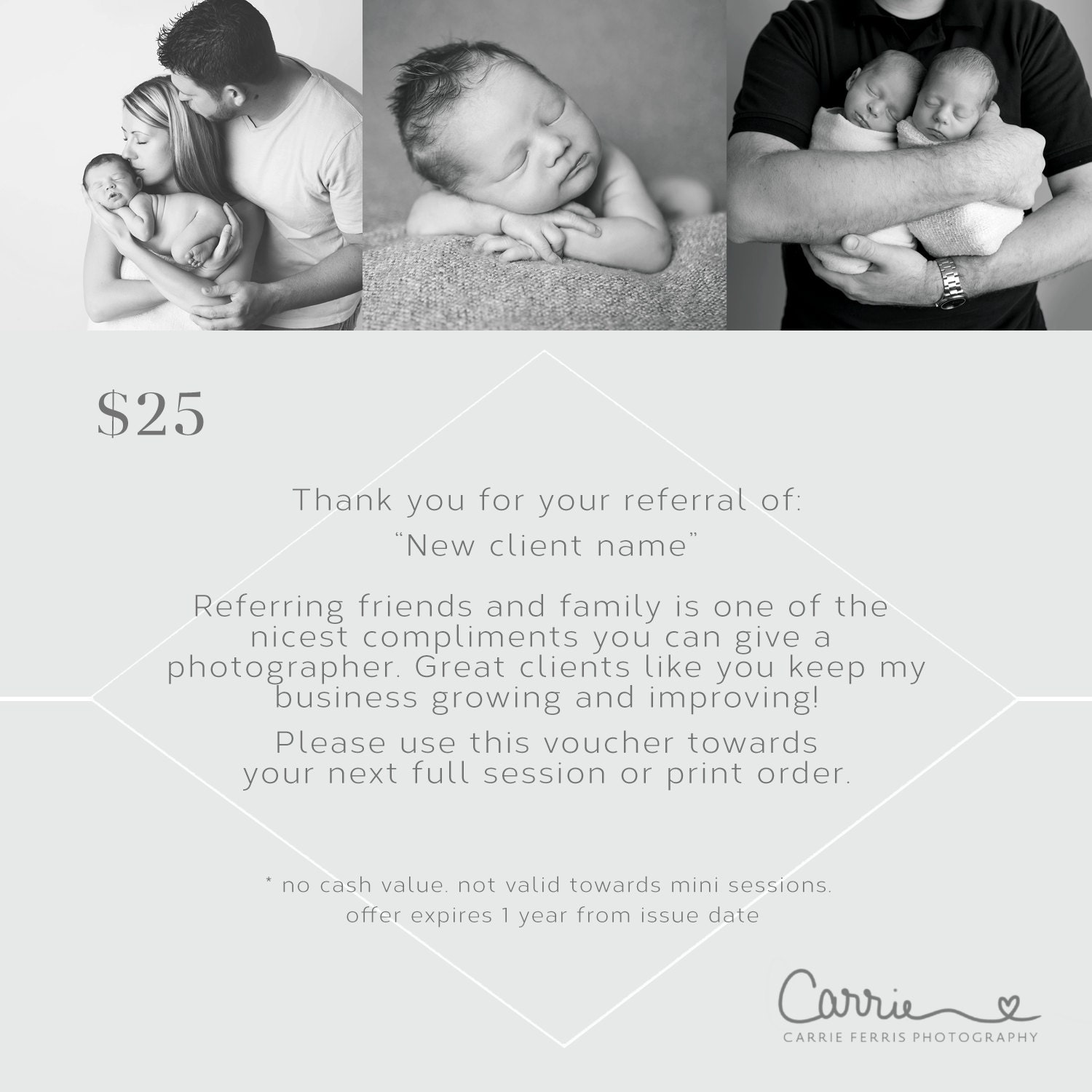 photography coupon template free